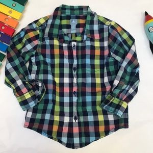 GAP colorful gingham shirt, gorgeous, 3T